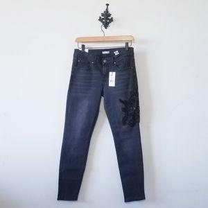 NWT Dex Embellished Floral Jeans Size 28